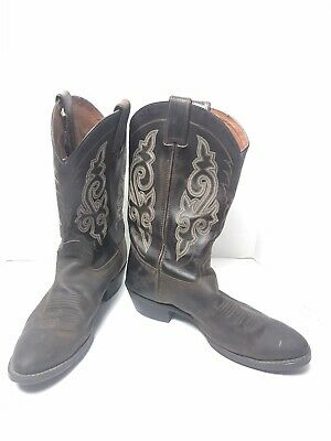 Double H Men's Boots Work Western Brown DH3255 Leather Size 9.5 D D2990