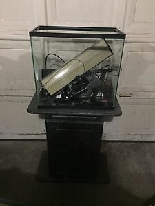 Complete 16.5 gallon fish tank and stand for sale
