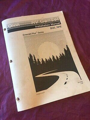 Onan Installation Manual Bge Nhe Genset Rv Generator Emerald Plus Series Guide