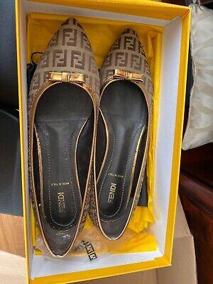 Fendi Logo, Shoes Size 39.5, U.S. 8.5