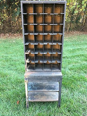 Antique Post Office Mail Box W28 Covey Holes