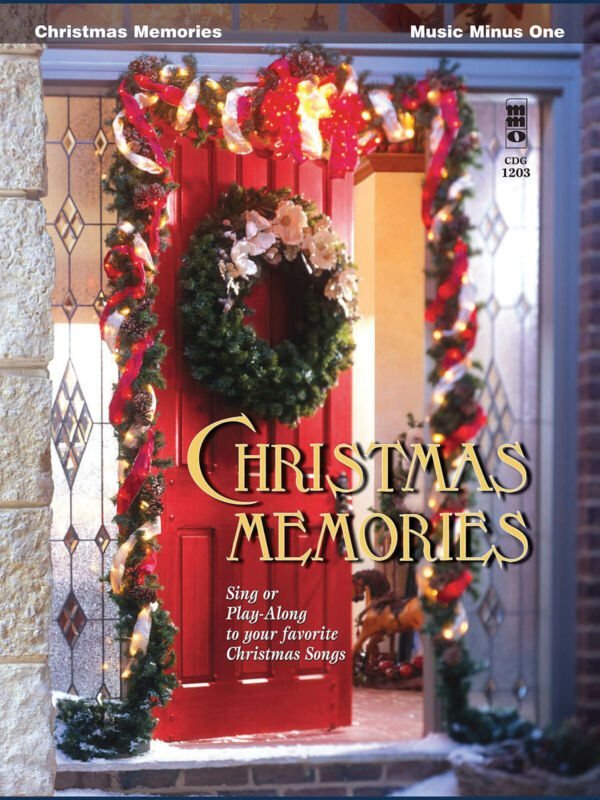 Christmas Memories for Vocal Sheet Music Minus One Sing or Play-Along Book CD