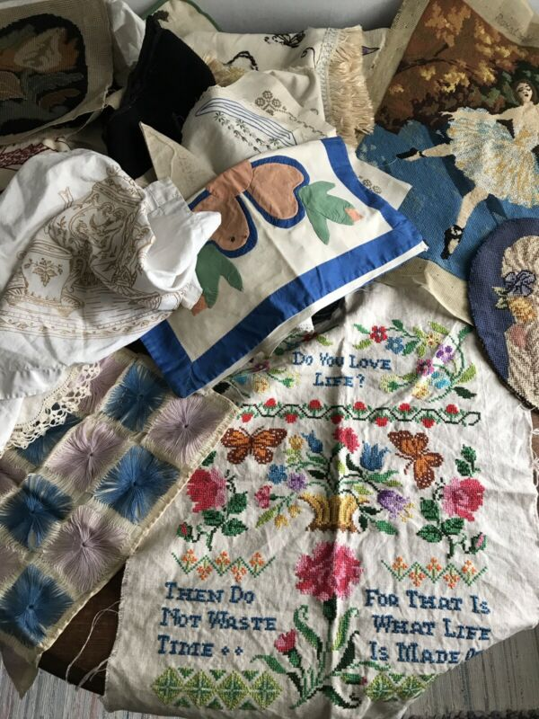 Vintage Embroidery Needlepoint Lot