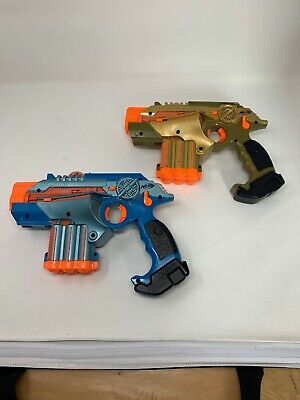 Nerf Phoenix LTX Lazer Tag Gun Set of 2, Blue and Gold  — FAST SHIP!