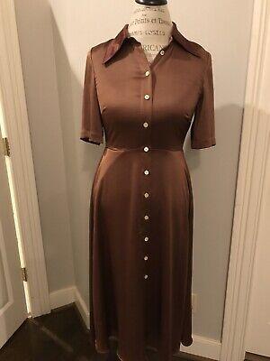 Kate Spade Satin Smocked Back Shirtdress In Spicecake Retail 398 Size S Nwot.
