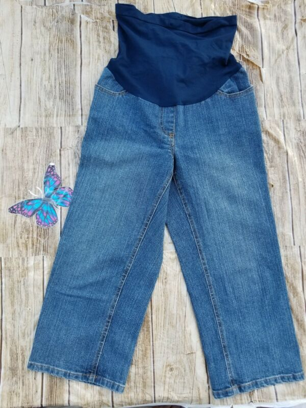 Motherhood Maternity Jeans Capris Pant Sz Small.