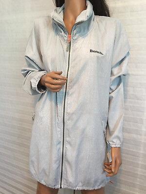Bench Track (NWT BENCH City Clothing Gray Lighweight Nylon Long Track Jacket sz L (XL))
