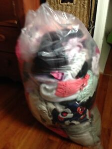 Big bag of baby girl clothes