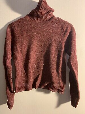 Abercrombie And Fitch Womens Maroon Cropped Sweater, Size L