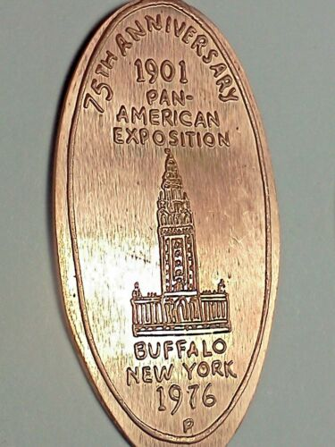 1901 PAN AMERICAN EXPOSITION 75TH ANN. N.Y. 1976-Elongated / Pressed Penny G-522