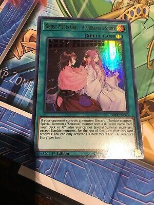 Yugioh! Ghost Meets Girl - A Shiranui's Story - SAST-EN063 - Ultra Rare - 1st Ed - Girl Ghost