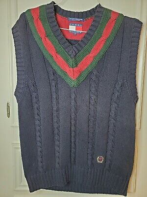 Vintage Tommy Hilfiger Sweater Vest Men's Large