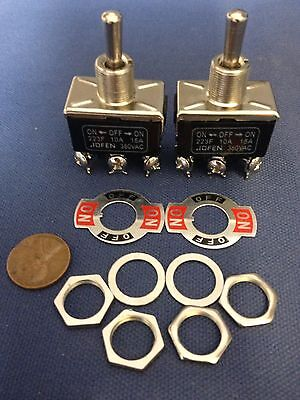2 Pieces Black Dpdt Momentary Switch Onoffon Motor Reverse Dc Ac Vdc Vac 3m