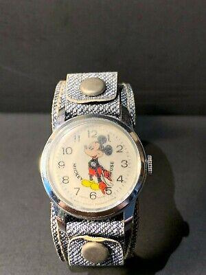 Vintage BRADLEYS Mickey Mouse Wind up Swiss Made Watch Walt Disney Productions