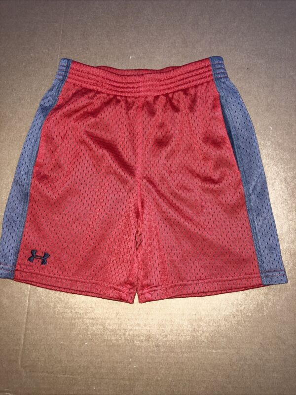 Under Amour Boys Shorts - Size 4T - Excellent Condition - Red w/ Grey