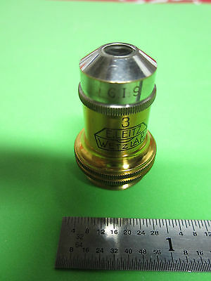 Microscope Optics Vintage E. Leitz Wetzlar Germany 10x 3 Objective Bin4t