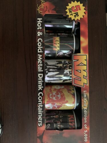 Rare Vintage KISS Hot And Cold Metal Dri K Container Set Limited Edition - $50.00