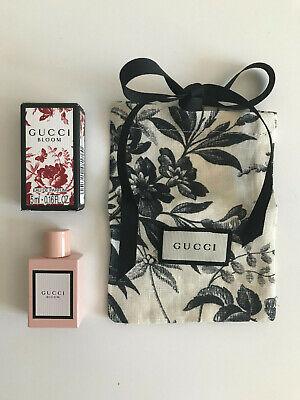 Gucci Bloom 5ml eau de parfum, miniature bottle with Gucci Herbarium pouch