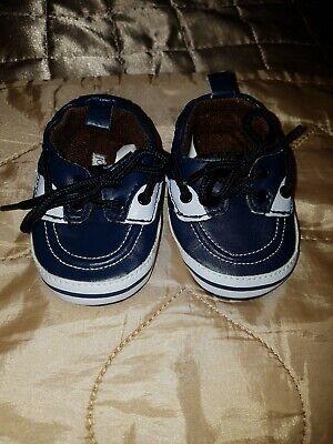Baby Boy Joseph Allen Designer Navy Pram Shoes Size 1 Brand New