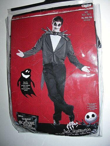 NWT NEW Halloween Costume Jack Skellington XL 42-46 Nightmare Before Christmas