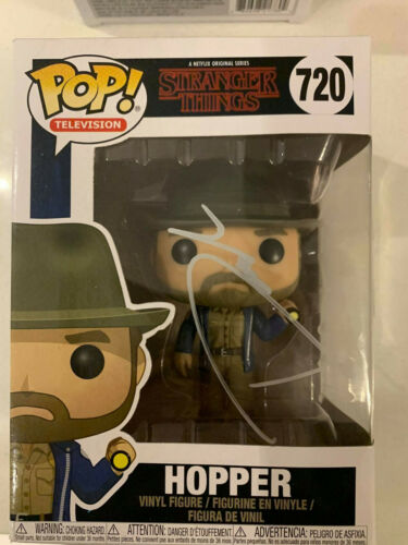 Stranger Things Hopper Funko Signed by David Harbour at Comic Con Liverpool 2020