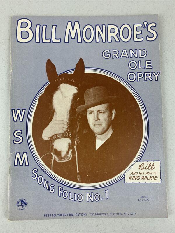 Bill Monroe Grand Ole Opry Song Book Sheet Music 1947