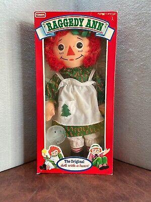 NRFB Vintage 1988 Special CHRISTMAS Edition RAGGEDY ANN DOLL Playskool Hasbro  ()