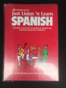 Listen and learn Spanish tapes and book