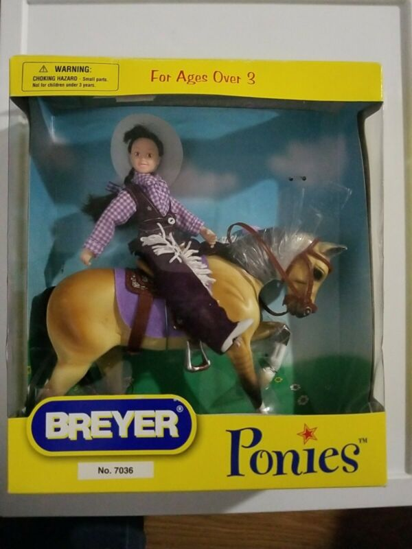BREYER PONIES #7036  - HORSE and COWGIRL Rider Set 2006