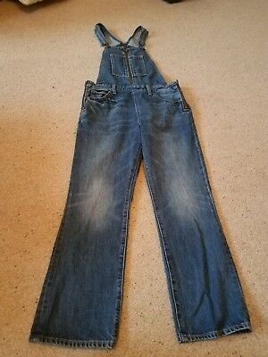 Levi's bib overalls jeans 29    tomorrow's party orange tab cropped bootcut