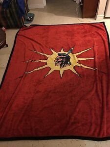 Massive Mohawk flag plush Blanket (very soft)