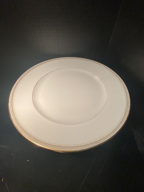 "1930s Heinrich &Co Selb Bavaria Dinner Plates 10"" Gold and Greek Key Trim Set 7"