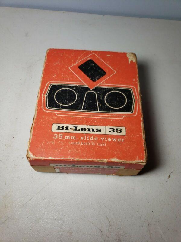 Vintage Bi- Lens 35 35mm Slide Viewer In Original Box