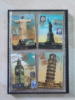 Vintage Postcards Travel Journal  NEW Luxury Journal - Perect for Gap year