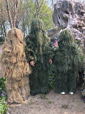 Children Camouflage Clothing Set Ghillie Suit for Hunting Cosplay CS Games](Ghillie Suit For Kids)