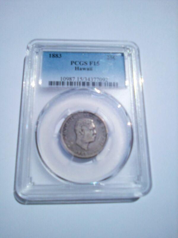 Hawaii Silver Quarter 1883 PCGS certified