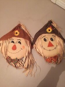 Set of 4 Fall Scarecrow Decorations