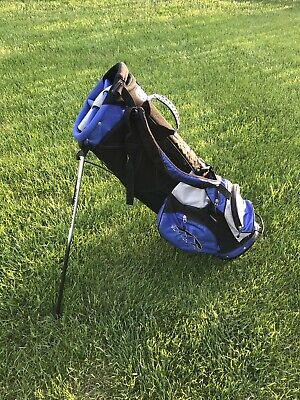 Sun Mountain Golf Superlight 3.5 Stand Bag Dual Strap 6 Way Budget Bag Used