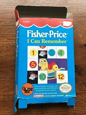 Fisher Price I Can Remember NES Nintendo Empty Box Only