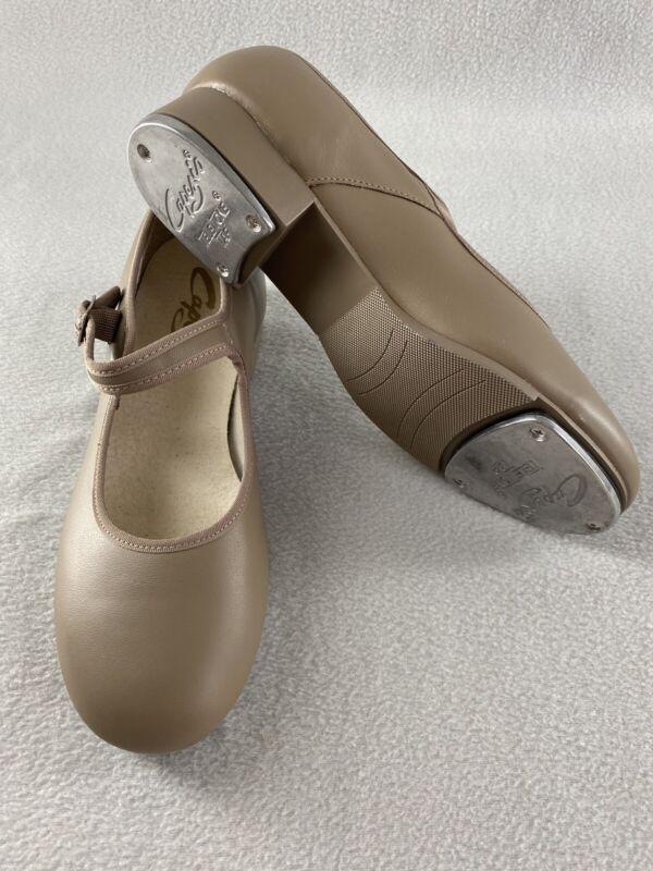 Capezio Tele Tone Tap Shoes 3800 Tan Leather Mary Jane Womens 9 M