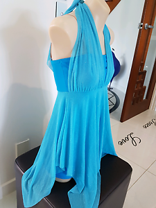 Blue Lyrical/contemporary dance costume Hope Island Gold Coast North Preview