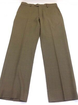 LINEA NATURALE LUXE BROWN MENS 100% WOOL CASUAL SLACKS SIZE 36
