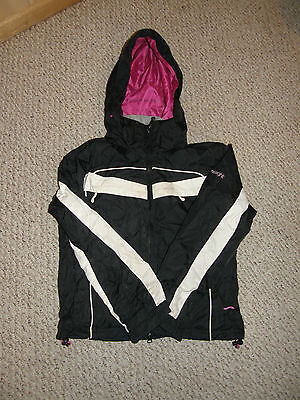lime light girls teen extra small xs winter jacket coat black white pink