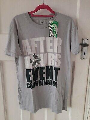 Local Celebrity Men Size S Silver Grey T-shirt 100% Cotton BNWT