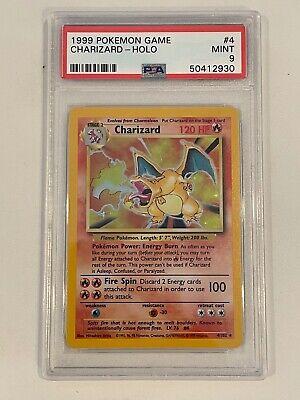 1999 Pokemon Holo Base Set Charizard Unlimited #4/102 PSA 9 MINT