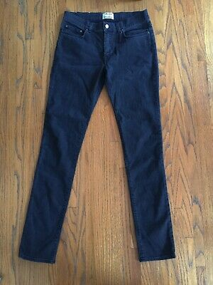 Acne Studios Thin Stay Cash Slim Cut Black Jeans Sz 33 x 34