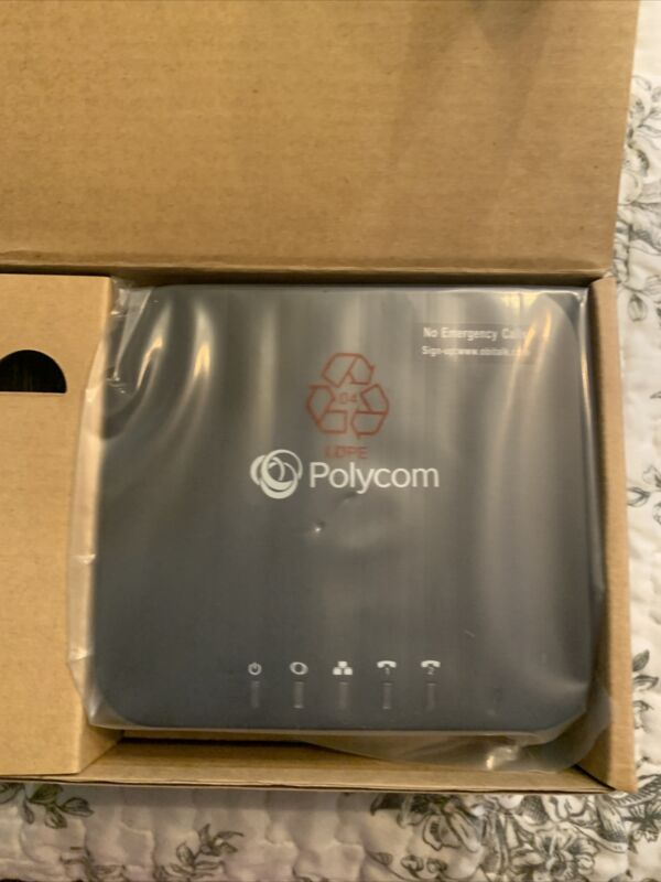Polycom 220049522001 2 Port VoIP Phone Adapter with Google Voice Fax