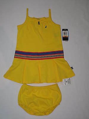 NWT NAUTICA  2pc set dress GIRL 12M yellow