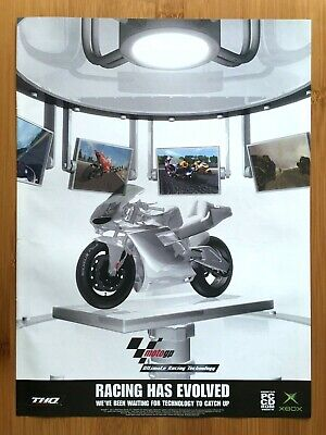 Moto GP Xbox 2001 Vintage Print Ad/Poster Motorcycle Racing Game Art Official UK