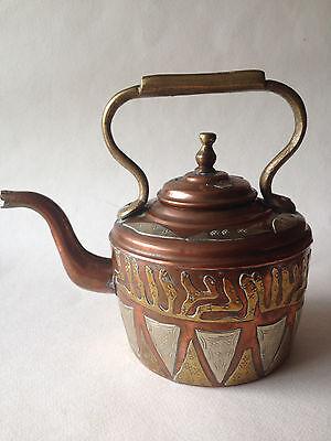 Antique/Vintage Moroccan Bronze, Copper & Silver Teapot
